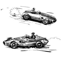 Fototapeta premium zabytkowe samochody wyścigowe