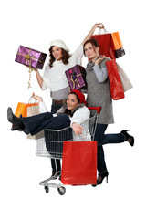 Three woman shopping together