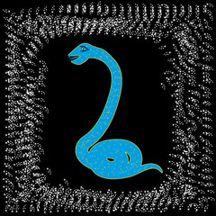 card by new year. Symbol of 2013. Abstract snake