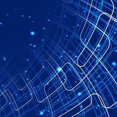 abstract circle blue shiny technology vector design