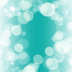 turquoise bokeh abstract light background