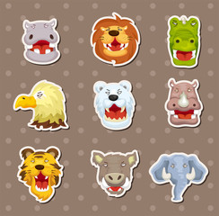 angry animal stickers