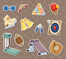 cartoon Sports Equipment stickers