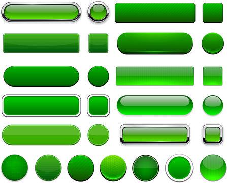 Green high-detailed modern web buttons.