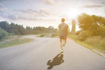 Läufer auf dem Weg zum Erfolg