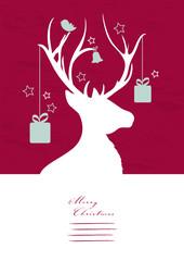 Rentier mit Weihnachtsschmuck