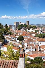 Obidos mit Burg, Portugal