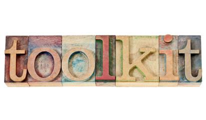 toolkit word in wood type