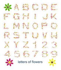 letters of flowers