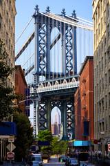 Manhattan Bridge and Empire State Building, New York