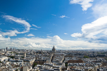 Panorama of Paris, overlooking the Pantheon