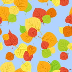 Seamless pattern with autumn leaves. Vector EPS 8.