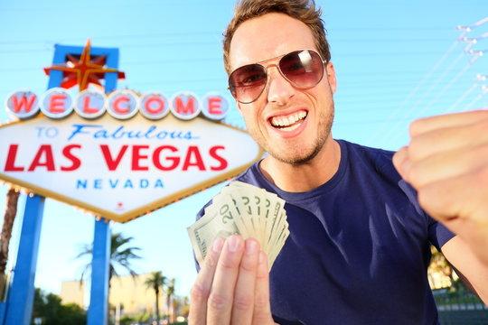 Las Vegas man winning money