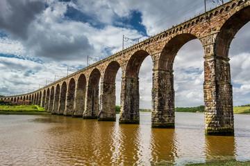 View of the three bridges in Berwick-upon-Tweed