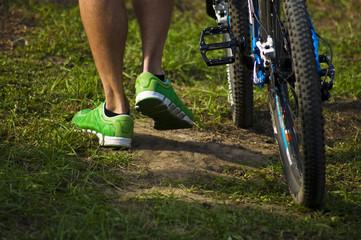 Bike ride legs