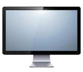 lcd tv monitor isolated