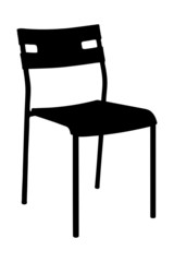 A silhouette of a chair