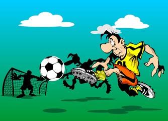 Player scores a goal