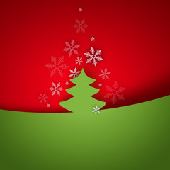 Christmas tree applique on bright background
