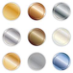 Metallic Button Seals
