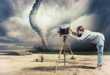 photographer and tornado