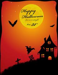 Dark Halloween party invitation background
