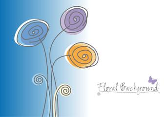 Blumen mit Textfreiraum