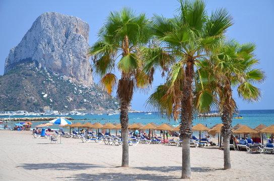 Plaża w Calpe, Hiszpania