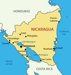 Republic of Nicaragua - vector map