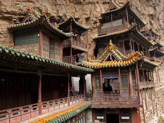 Antique hanging temples located near the  Datong