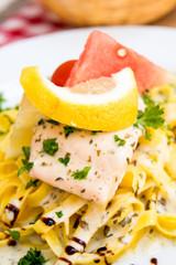 pasta and smoked salmon