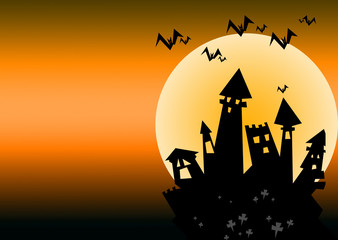 halloween castle cartoon