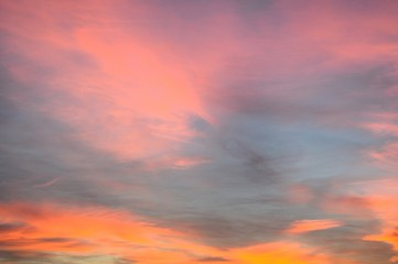 Pink and orange sunset © Arena Photo UK