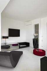 soggiorno moderno con chaise longue