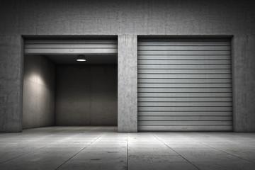Garage building made of concrete