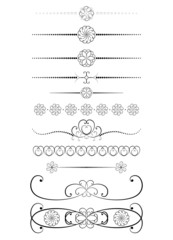 set ov vintage dividers vector illustration
