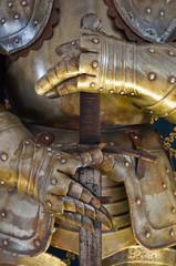 Plate armour. Albornoz fortress. Narni. Umbria. Italy.