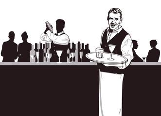 Kellner und Barkeeper