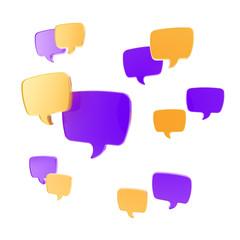 Speech bubble as communication illustration