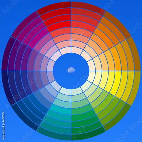 Roue chromatique sur fond de ciel photo libre de droits - Roue chromatique peinture ...