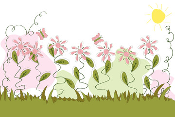 floral herbe traits