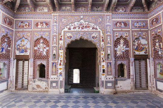 A frescoed Haveli in Fatehpur, Shekhawati