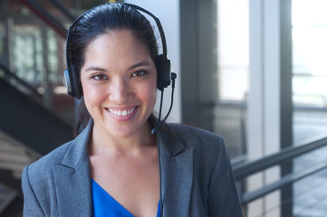 attractive asian businesswoman