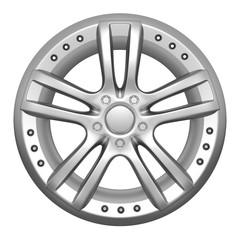 Car wheel on a white background