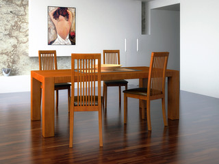 Massivholz-Tisch