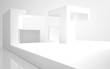 Abstract Architecture. abstract white building