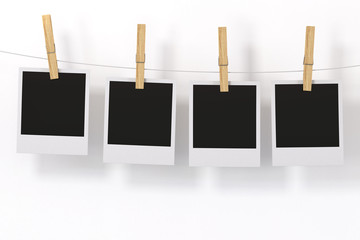 Isolated Photo Frame with clothespin