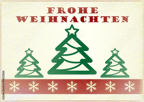 german vintage christmas card frohe weihnachten stock. Black Bedroom Furniture Sets. Home Design Ideas