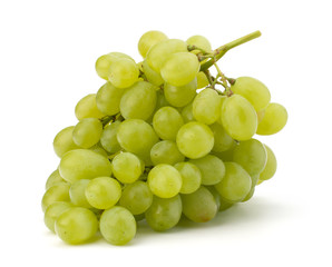 Perfect bunch of white grapes