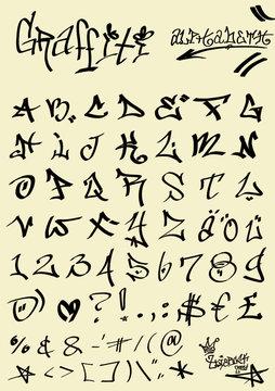 Graffiti ABC Alphabet - tagging
